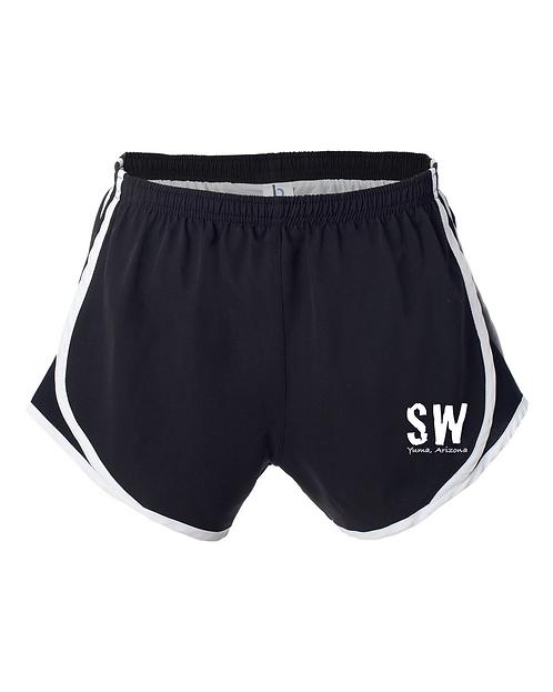 Black/White  Boxercraft - Women's Velocity Running Shorts