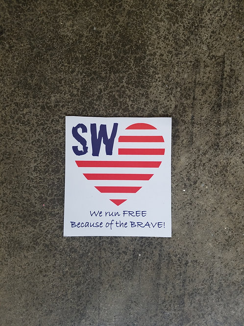 SW We run FREE Magnetic Car Decal