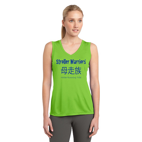 Lime Shock Sport Tek Sleeveless PosiCharge Competitor V Neck