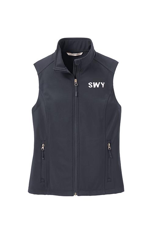 Battleship Gray Port Authority Ladies Soft Shell Vest