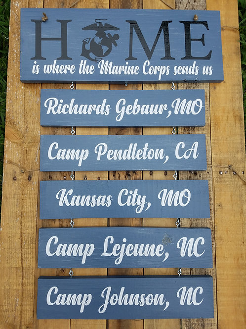 Military Family Sign, Duty Station Sign, Retirement Gift, $29.95+