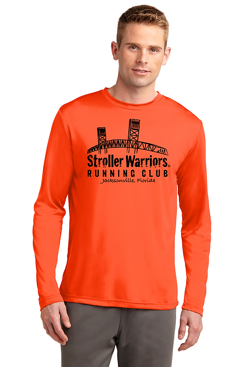 Neon Orange Sport-Tek® Long Sleeve PosiCharge® Competitor™ Tee