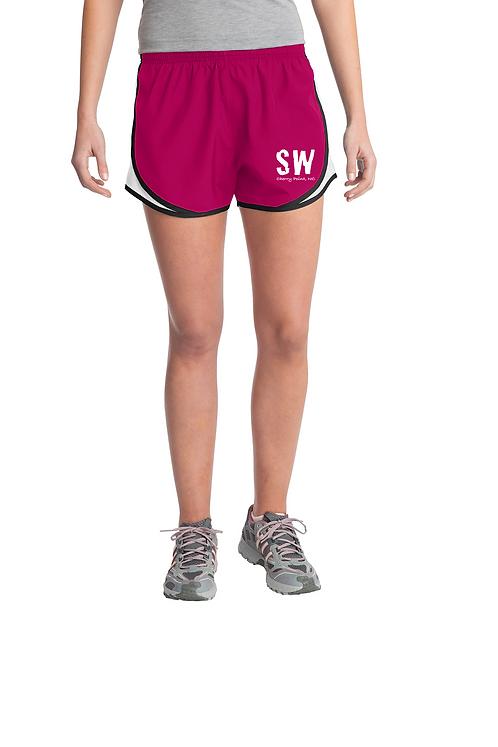 Raspberry  Sport-Tek® Ladies Cadence Short