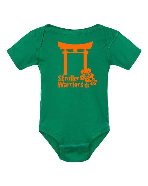 Kelly green Rabbit Skins™ Infant Short Sleeve Baby Rib Bodysuit