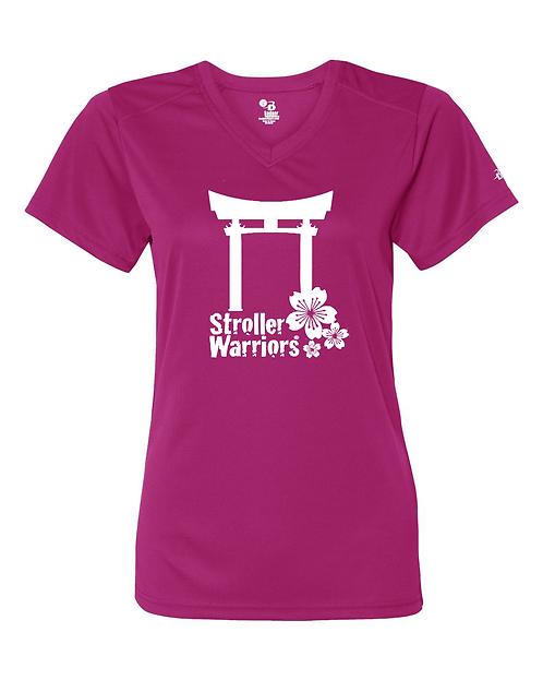 Hot pink Badger - B-Core Women's V-Neck Tee