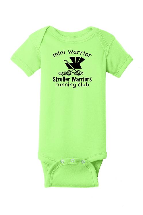 Key Lime Rabbit Skins™ Infant Short Sleeve Baby Rib Bodysuit