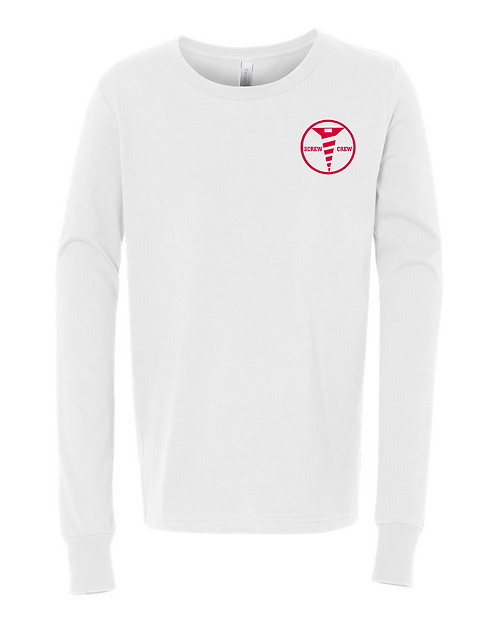 White Bella + Canvas - Youth Unisex Jersey Long Sleeve Tee