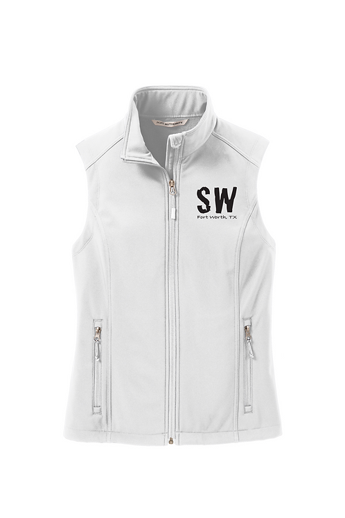 Marshmallow Port Authority Ladies Soft Shell Vest