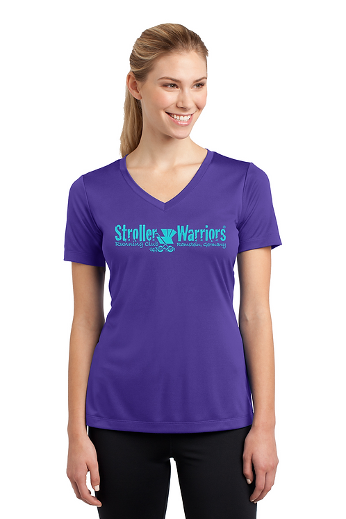 Purple Sport-Tek® Ladies PosiCharge® Competitor™ V-Neck Tee