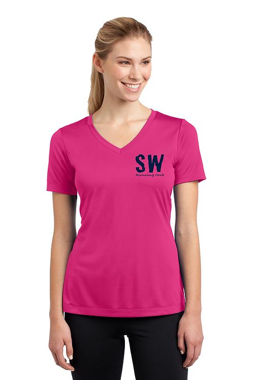 Pink Raspberry Sport-Tek® Ladies PosiCharge® Competitor™ V-Neck Tee