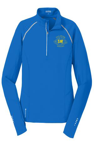 Electric Blue OGIO® ENDURANCE Ladies Nexus 1/4-Zip Pullover