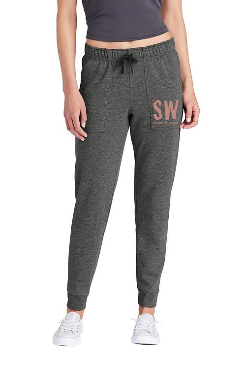 Dark heather gray Sport-Tek  Ladies PosiCharge ® Tri-Blend Wicking Fleec