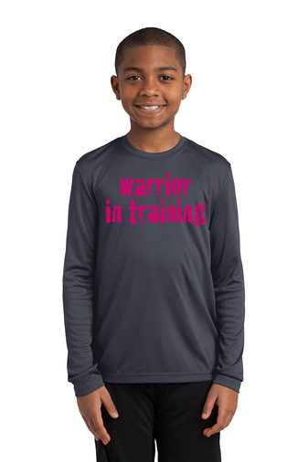 Iron Gray Sport-Tek® Youth Long Sleeve PosiCharge® Competitor™ Tee