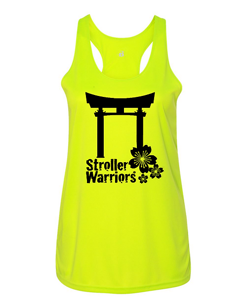 Safety Yellow Badger - B-Core Women's Racerback Tank Top