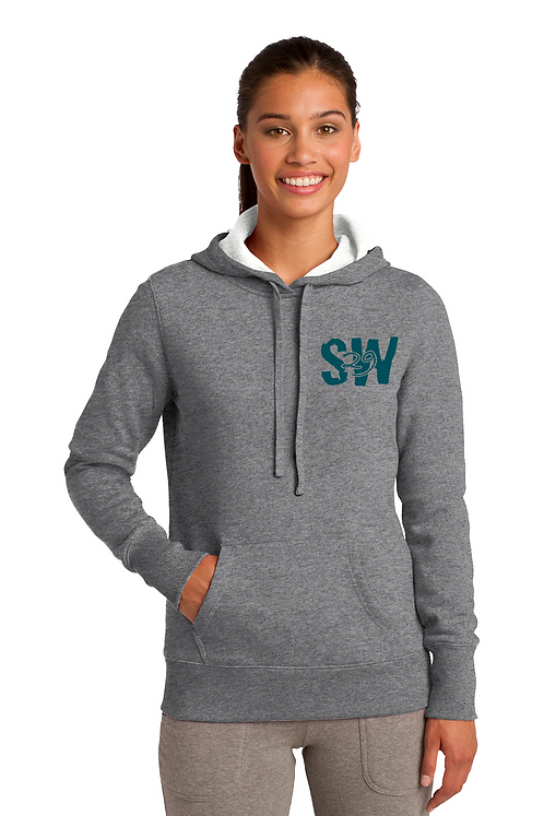 Vintage heather Sport-Tek® Ladies Pullover Hooded Sweatshirt