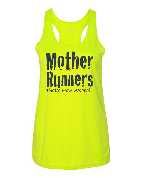 Safety Yellow Badger B-Core Women's Racerback Tank Top