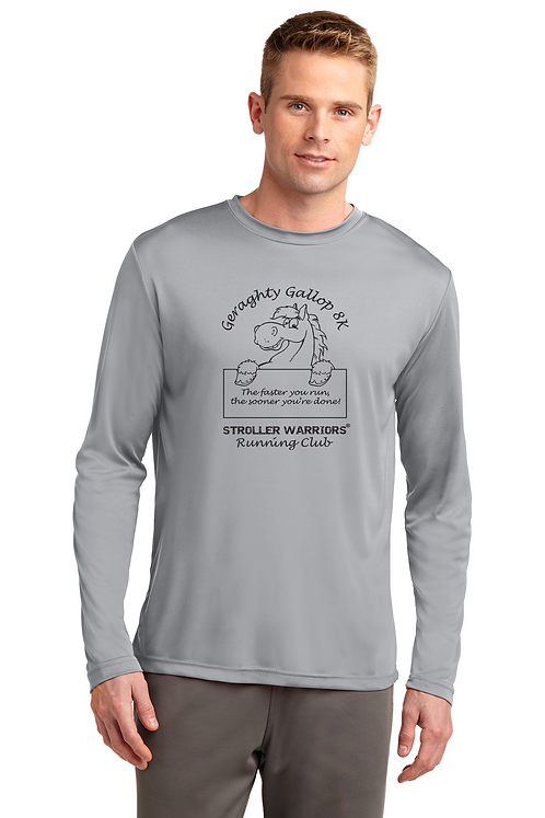 Silver Sport-Tek® Long Sleeve PosiCharge® Competitor™ Tee