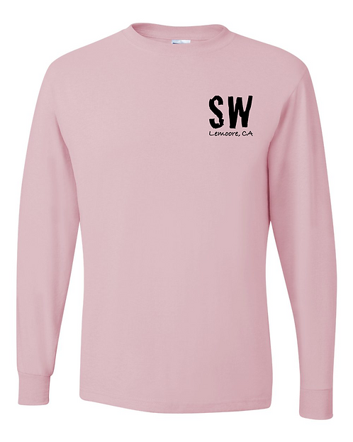 Classic Pink Dri-Power® Long Sleeve 50/50 T-Shirt