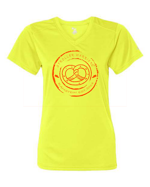 Safety yellow Badger - B-Core Women's V-Neck Tee