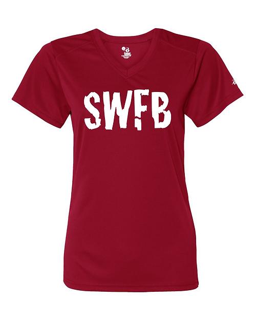 Red Badger - B-Core Women's V-Neck Tee