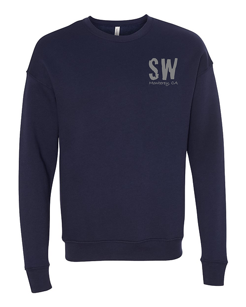 Navy BELLA + CANVAS - Unisex Sponge Fleece Drop Shoulder Sweatshirt