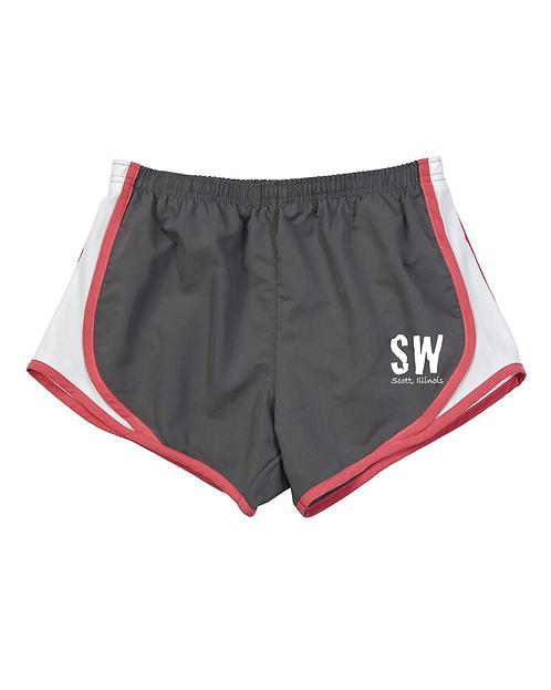 Gray/Coral/White  Boxercraft - Women's Velocity Running Shorts