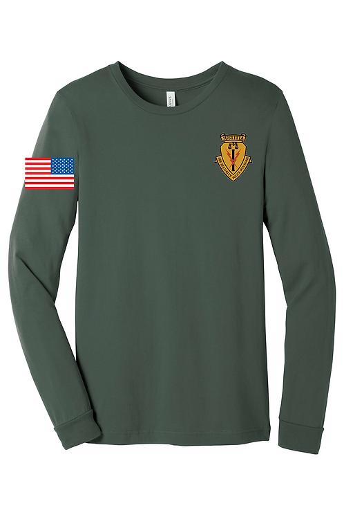 Military Green Bella & Canvas - Long Sleeve Jersey Tee