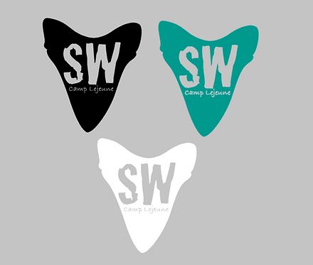 SW Camp Lejeune Shark Decal