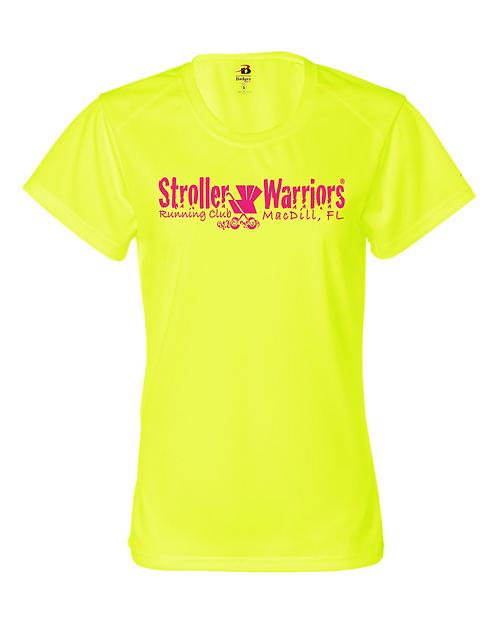 Safety Yellow Badger - B-Core Women's Crewneck T-Shirt