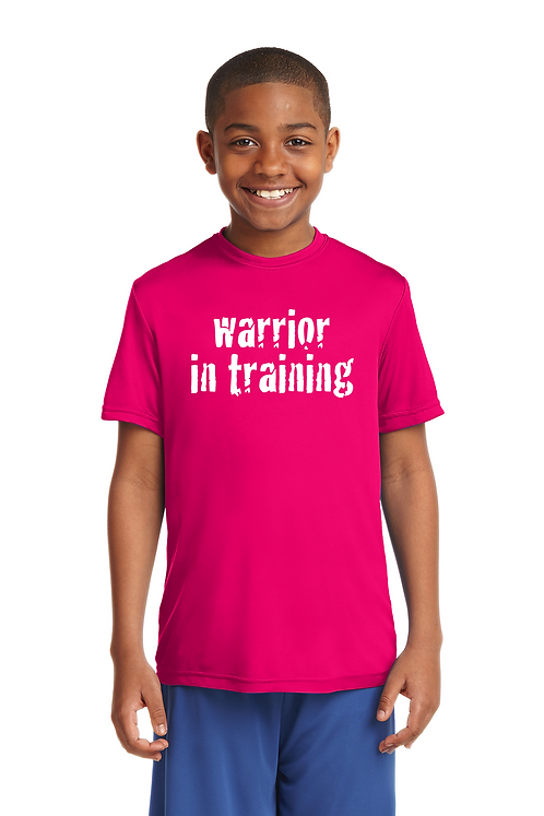 Pink raspberry Sport-Tek® Youth PosiCharge®Competitor Tee