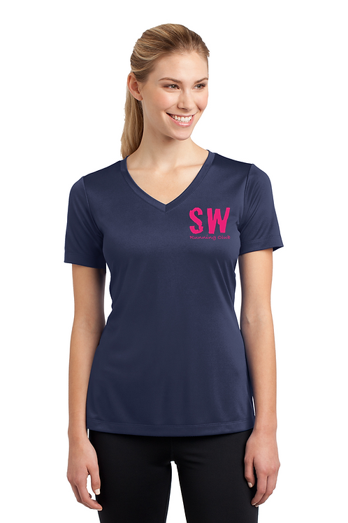 True Navy Sport-Tek® Ladies PosiCharge® Competitor™ V-Neck Tee