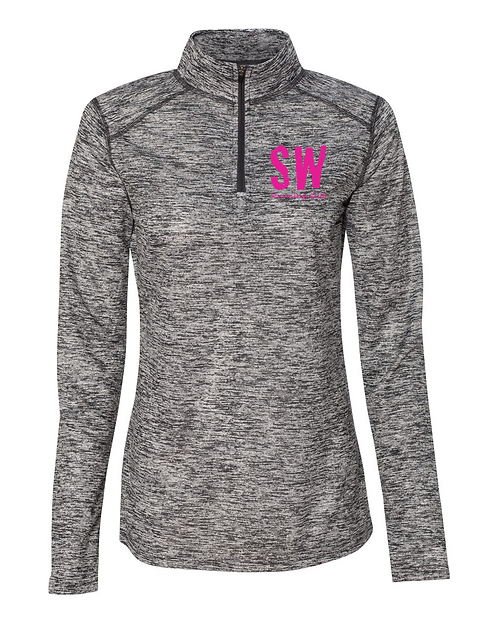 Graphite Badger - Blend Women's Quarter-Zip Pullover