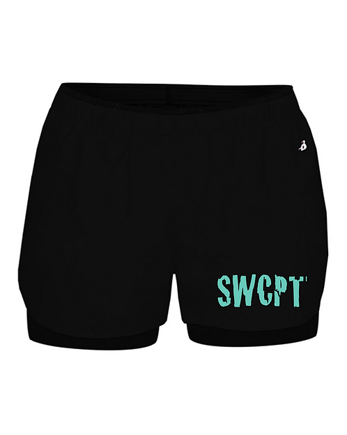 Black Badger - Women's Double Up Shorts