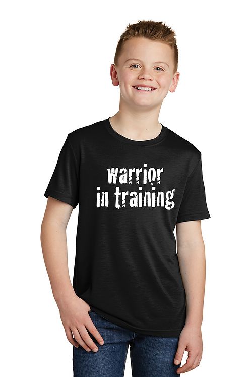 Black  Sport-Tek® Youth PosiCharge® Competitor™ Cotton Touch™ Tee
