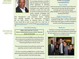 PBDG May newsletter