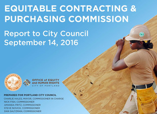 Equitable Contracting and Purchasing Commission report to city council