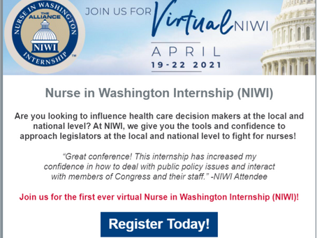 GREAT NEWS!  -  NIWI April 2021 Conference
