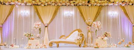 Draped Wedding Reception Stage