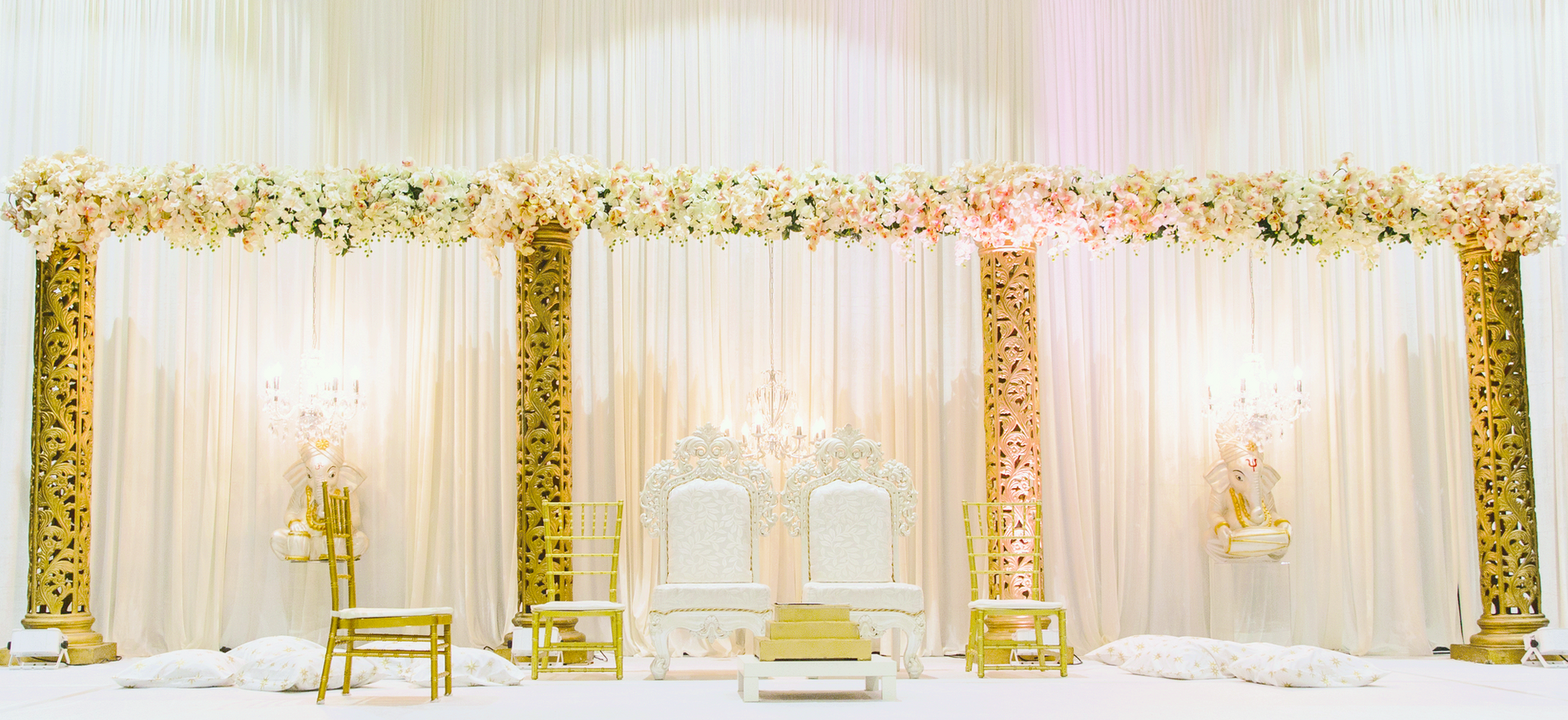 Open Empire Gold and White Mandap