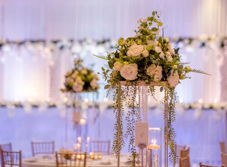 Table Centrepieces at Wedding Reception Gold Coast Marriott