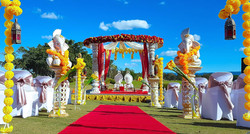 Outdoor Indian Wedding Mandap Shaan