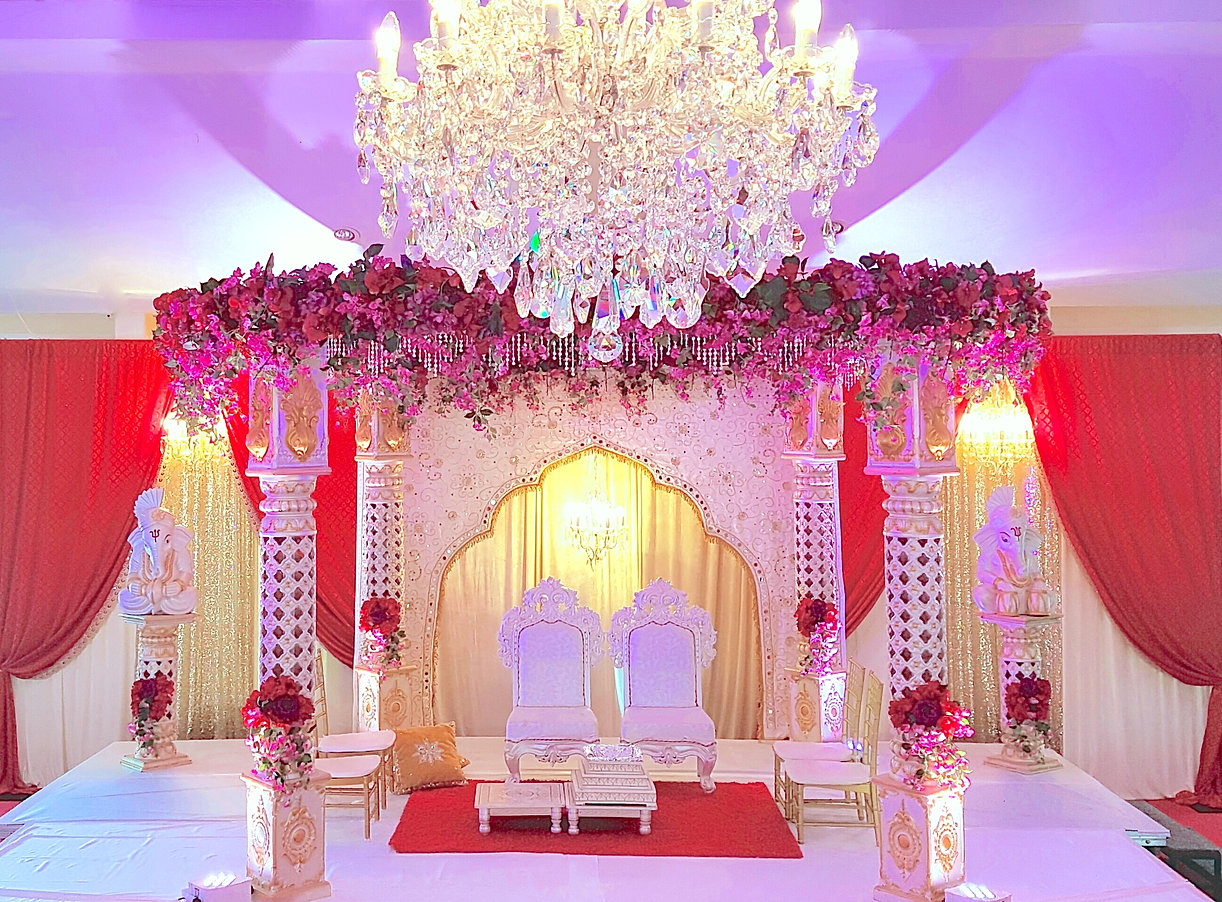 Chandni events and mandaps indian wedding decorator and planner chandeliers to die for mandap aloadofball Choice Image