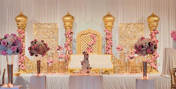 Grand Wedding Reception Stage Design