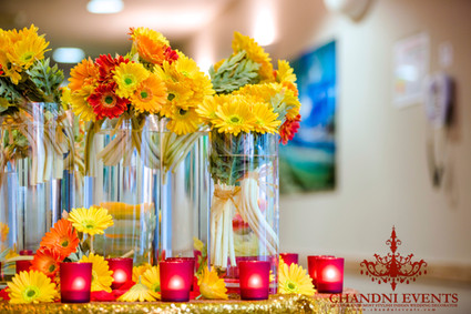 Floral Centrepiece Feature at Sharks Club Gold Coast