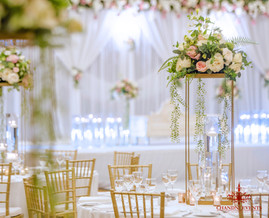 Marriott Wedding Florals and Table Setting