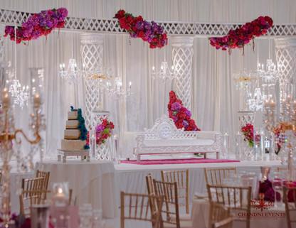 Luxury Mandap Wedding Reception Stage - Sheraton Grand Mirage