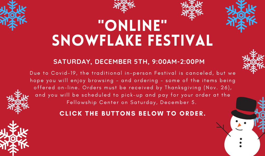 Teal Snow Man and Snow Flakes Christmas