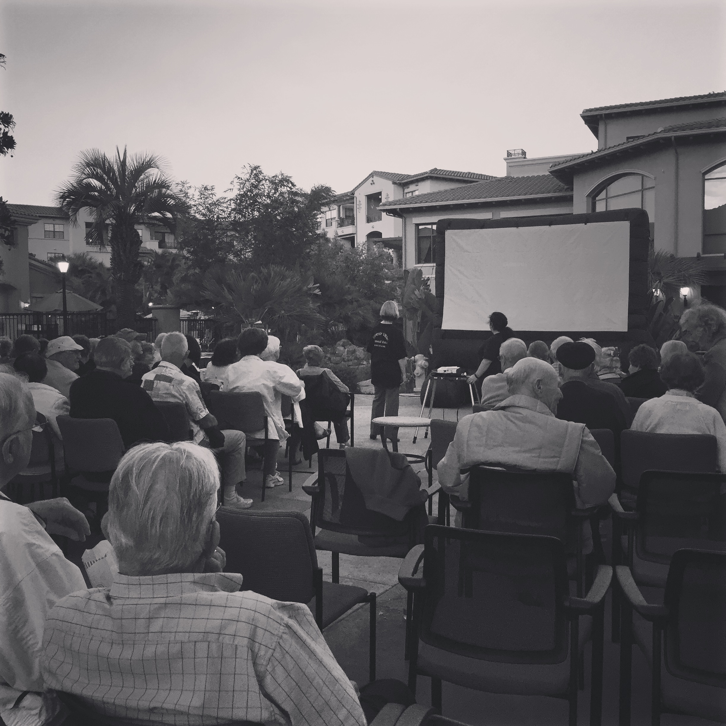 Outdoor Movie Night @Retirement home