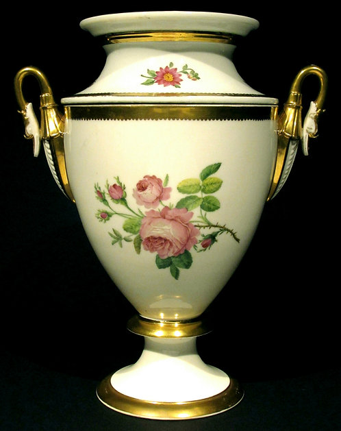 A Very Elegant Neoclassical Inspired Porcelain Ice Pail / Wine Cooler, France