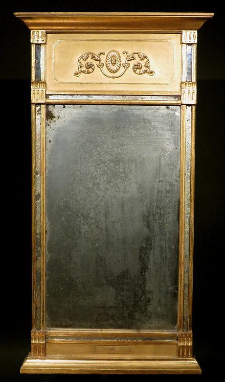 A Fine Early 19th Century Gustavian Period Giltwood Pier Mirror